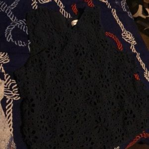 Tank floral crochet top